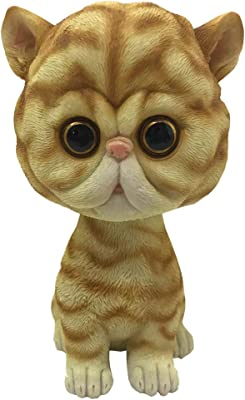 Nemesis Now Bob Puss Ginger Striped Cat Bobble Head Figurine, Polyresin, Orange, One Size