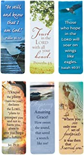 Beautiful Magnetic Bookmarks with Scripture and Words of Inspiration - Set of 6