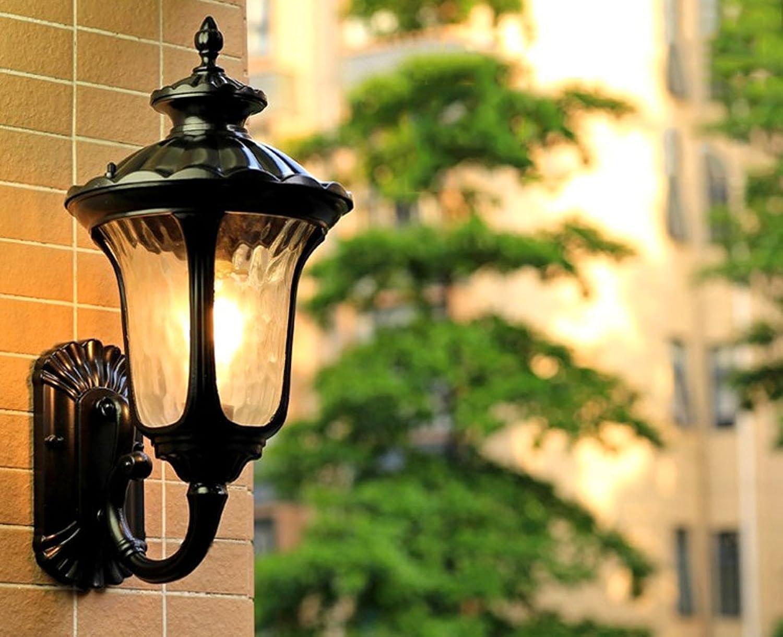 QQB Auenleuchte Wandleuchte - Moderne minimalistische im Freien Wasserdichte Wandleuchte Villa Hof Garten Balkon Wohnzimmer Wandleuchte Gang Korridor Wandleuchte (Farbe   A)