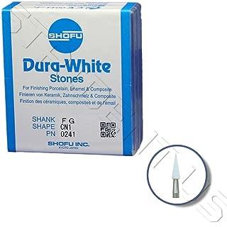 Shofu Dura White Mounted Stone Bur FG CN1 (12 per box) SH-0241