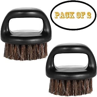 Borogo 2-Pack Beard Brush for Men - Men's Beard Brush (Essential Tool For Professional Barbering & Grooming Services), Brush Neck Face Duster Brush for Hairdressing Salon Household