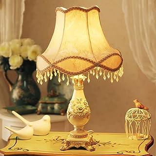 Lampe De Table De Lampe Tiffany, Lampe De Chevet En Tissu De Rétro Européen, Lampe Pour Chambre À Coucher Lampes De Nuit, ...