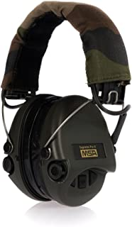 MSA Sordin 75302-X-G Supreme Pro X Electronic Earmuff with Camo Headband Green Cups and Fitted Gel Seals