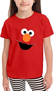 Xuekai Boys' Girls Cookie Monster Face T-Shirts Little Kids Toddlers Cotton Top Tees Blue