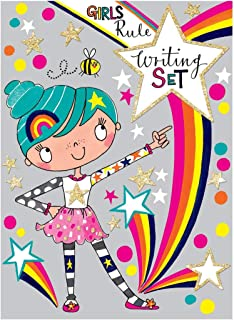 Jewelkeeper Girl's Rule Writing Set, Multi-Use Stationery Pack, Rachel Ellen Collection