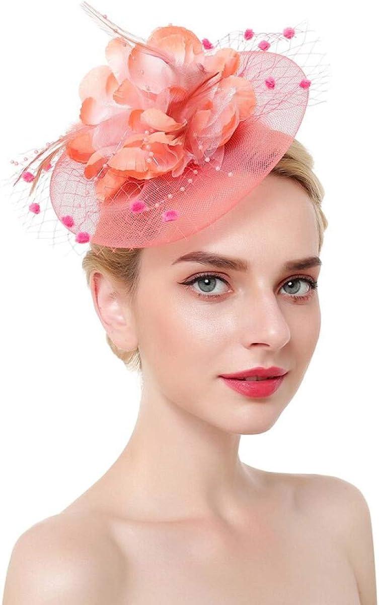 favorite MELLOW SHOP wholesale Fasnators Dot Flowers Hair Clips Mesh Vei Fascinator