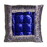 Casa Moro Orientalisches Sitzkissen Kissen Mar55 Blau 36x36 cm inklusive Füllung | Indian Style...