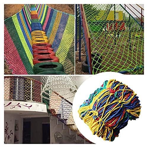 Escalada Cuerda Neta Red de Seguridad para Niños de Nailon de Color Grosor de La Cuerda 10 Mm (0,4 Pulgadas) Distancia Neta 10 Cm (4 Pulgadas) Red Decorativa de Cuerda/Red de Protección de Balcón