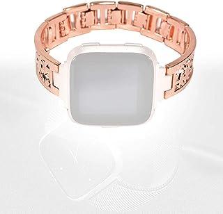 minifinker Bracelet de Montre Bracelet en Acier Inoxydable Couleur Or Rose, pour Voyager(Rose Gold)