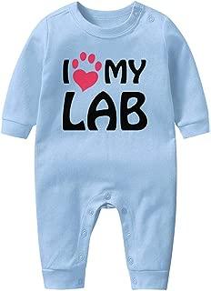 Crime Lab, I Love My Dog Baby Boys Girls Long Sleeve Baby Onesie Baby Romper