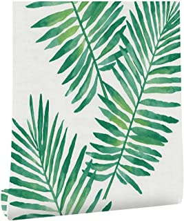 DWIND D9540-3 Self Adhesive Wallpaper Tropical Palm Leaf Green 3d Peel and Stick Wallaper For Furniture Kitchen Countertop...