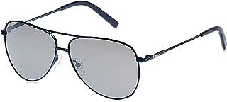 نظارة شمسية للرجال من تيمبرلاند TB917991D60 - لون ازرق بدون لمعة/ رمادي داكن، عدسات مستقطبة، اطار معدني