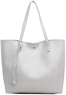 Women Sling Bag,Soft Leather Crossbody Bags Big Capacity Strap Carrying Bag Solid Color Tassel Sling Backpack Shoulder Bag Casual Daypack For Ms Travel Hiking Shopping
