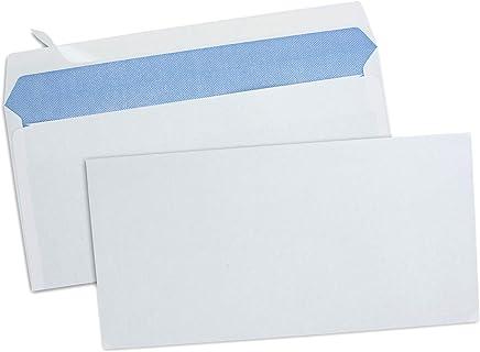 GPV Boîte de 500 enveloppes Blanches auto-adhésives 80g Format DL 110x220mm