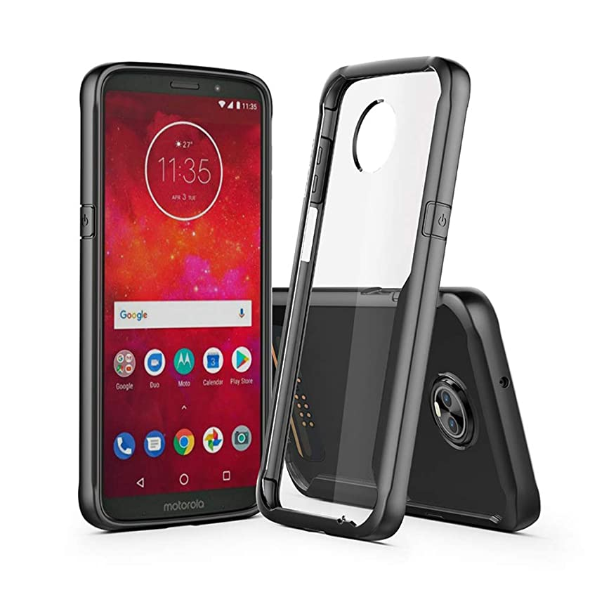 Z3 Play Case Compatible with Motorola Moto Z3 Play Phone Cover Clear Ultra Thin Motoz3 Z 3play NOTO Bumper 6.0 Inch (Black)