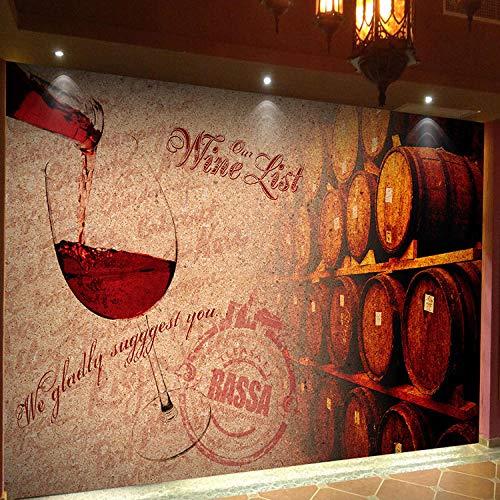 Personalità europea 3D carta da parati vino rosso cultura del vino cantina cantina bar sfondo sfondo retrò nostalgico grande carta da parati fotomurali murale Soggiorno camera da letto-400cm×280cm