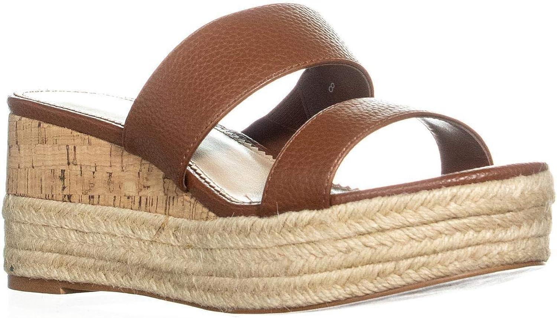 Callisto Foundation Wedge Espadrille Sandals, Brown Pebble