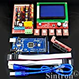 Sintron] 3D Printer Controller Kit RAMPS 1.4 + Mega 2560 R3 + 5PCS A4988 Stepper con dissipatore + LCD 12864 Graphic Smart Display Controller with Adapter for Arduino RepRap