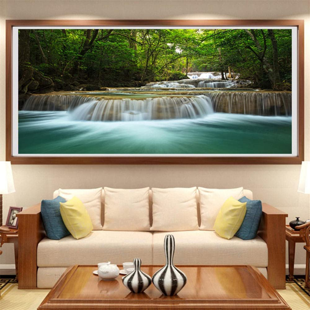 Cheap mail order specialty store 5D DIY Diamond Painting Kits Waterfall Inexpensive Mountain Ar Large