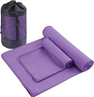 Pilates and Workout Hot Yoga Mat Towel IntoBetterLife IBL-Yoga Towel 24x72 inches with Grip Dots Sweat Absorbing Non-Slip for Hot Yoga