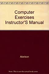 Computer Exercises Instructor'S Manual Hardcover