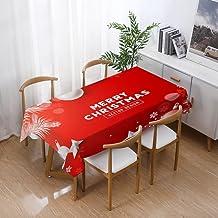 Kerst Rechthoekig Tafelkleed - Kerst Waterdicht Tafelkleed Eettafel Thuis Rechthoekige Eetkamer Salontafel Set Mode Kerst ...
