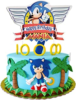 Cake Decorations for Sonic the Hedgehog Cake Topper Birthday Party Supplies Cupcake Toppers for Children