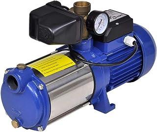 vidaXL Bomba inyectora azúl con indicador de presión, 1300 W, 5100 L/h