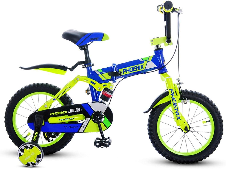 Vuelta de 10 dias XXHDYR Bicicletas para Niños Niños de de de 5-9 años de Edad Bicicleta Bicicleta Cochecito Plegable 18 Pulgadas Niños Bicicleta de Montaña Naranja (Color   azul)  ahorra 50% -75% de descuento