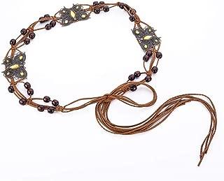 SGJFZD New Ethnic Wind Wax Rope Woven Handmade Belt Fashionable Waist Chain Dress Accessories Belt (Color : Orange)