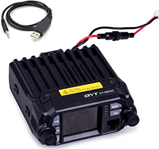 QYT KT-8900D (Upgraded 2nd Gen.) Mobile Transceiver Dual Band Quad Standby VHF/UHF 136-174/400-480MHz Mini Car Radio Amateur (HAM) Radio W/Free Cable