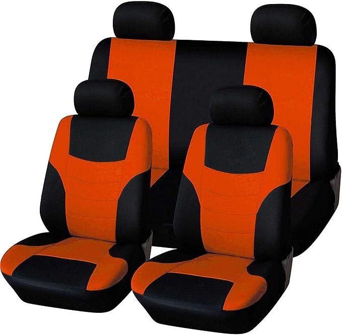 Hotyou Universal Sitzbezüge Für Auto Schonbezug Komplettset Herausnehmbar Und Waschbar Orange Auto
