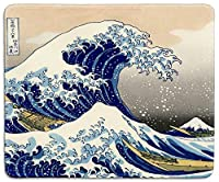 dealzEpic - Art Mouse Pad - Natural Rubber Mousepad Printed with Japan Art The Great Wave by Hokusai - Stitched Border - 9.5x7.9 inches [並行輸入品]