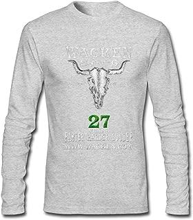Hefeihe DIY Wacken Festival 2016 Men's Long-Sleeve Fashion Casual Cotton T-Shirt