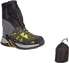 USHINING Outdoor Waterproof Essential Ankle Walking Gaiters Ultra-Light Low Trail Gaiters(1 Pair) -Black