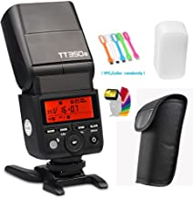 Godox TT350S 2.4G High-Speed Sync 1/8000s TTL GN36 Wireless Master slave Speedlite Flash light Compatible for Sony Mirrorless Digital Camera(TTL autoflash) with CONXTRUE LED USB