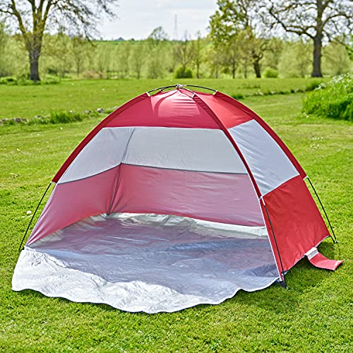 SA Products Easy Up Beach Tent - Folding Portable Shelter Cover from Sun,...
