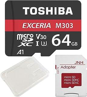 東芝 Toshiba 超高速U3 アプリ最適化A1 4K対応 microSDXC 64GB + SDアダプター + 保管用クリアケース [バルク品]