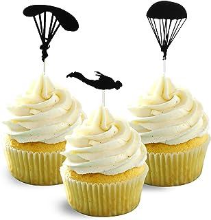 Parachuting skydiving Cupcake Topper Card Stock 12 per Pack Cupcake parachuting hop
