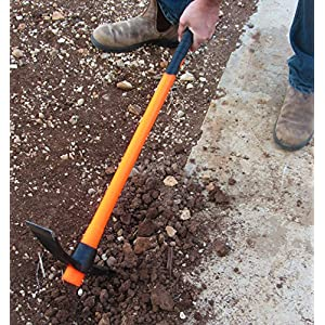 Tabor Tools J56A, Pick Mattock, Strong Light-Weight Fiberglass Handle, Garden Pick, Great for Loosening Soil, Archaeological Projects, and Cultivating Vegetable Gardens or Flower Beds (Large 35 Inch)