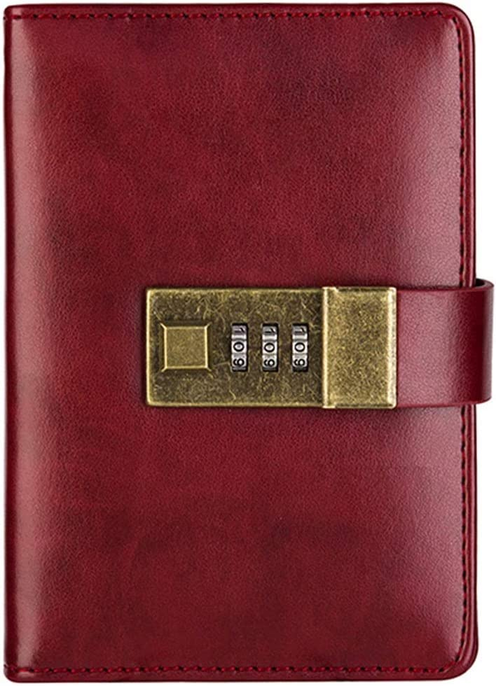 A7 Leather Mini Notebooks Columbus Mall Password Lockable Diary Retro European Kansas City Mall