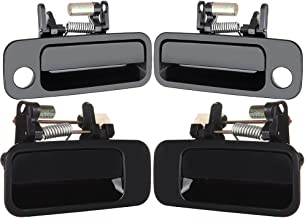 cciyu 69210-AA010 69240-AA010 Door Handles Exterior Outside Outer Front Rear Driver Passenger Side Replacement fit for 1997-2001 Toyota Camry Black(4pcs)
