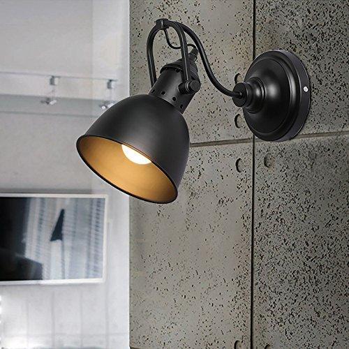 LXSEHN Européenne Rétro Style Industriel En Fer Forgé Noir Mur Lampe, Café Restaurant Bar Mode Barbier Couloir Couloir Mur Lampe Illumination lampes lanternes