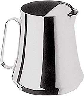 Mepra Party 20063516 200CL. Water Pitcher with Ice Trap – Silver Finish Serveware, Dishwasher Safe Jug