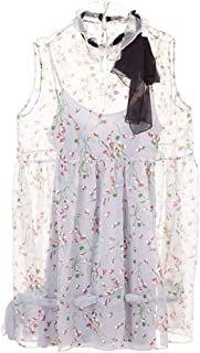 Miu Miu Luxury Fashion Womens MF34941T17F0082 Light Blue Dress | Fall Winter 19