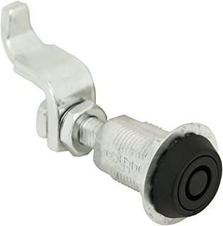 Southco E3-15-15 Powder Coated Tool Operated Compression Latch with Tubular Key Head, Non-Locking, Key Included