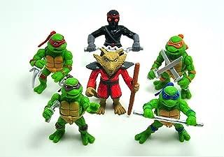 BRANDSALES TMNT Mini Teenage Mutant Ninja Turtles Vinyl Figures Cake Toppers (6 PCS)