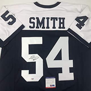 Autographed/Signed Jaylon Smith Dallas Thanksgiving Day Football Jersey PSA/DNA COA