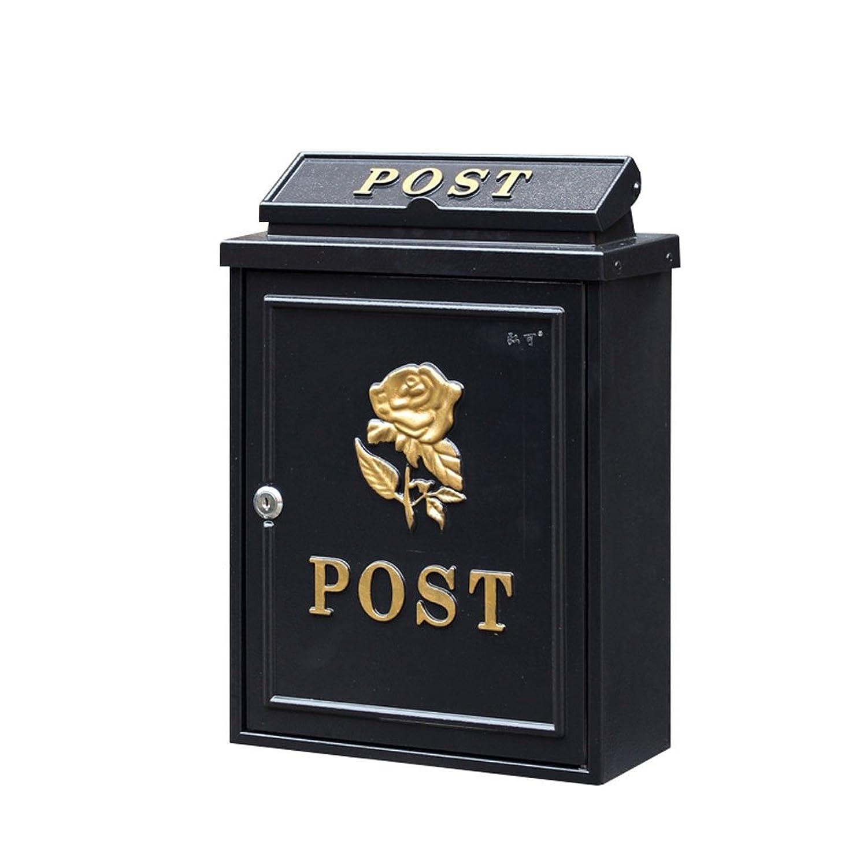 GLJJQMY メールボックスレターボックスヴィラ屋外メールボックス壁掛け防水ボックスローズ メールボックス (Color : C)