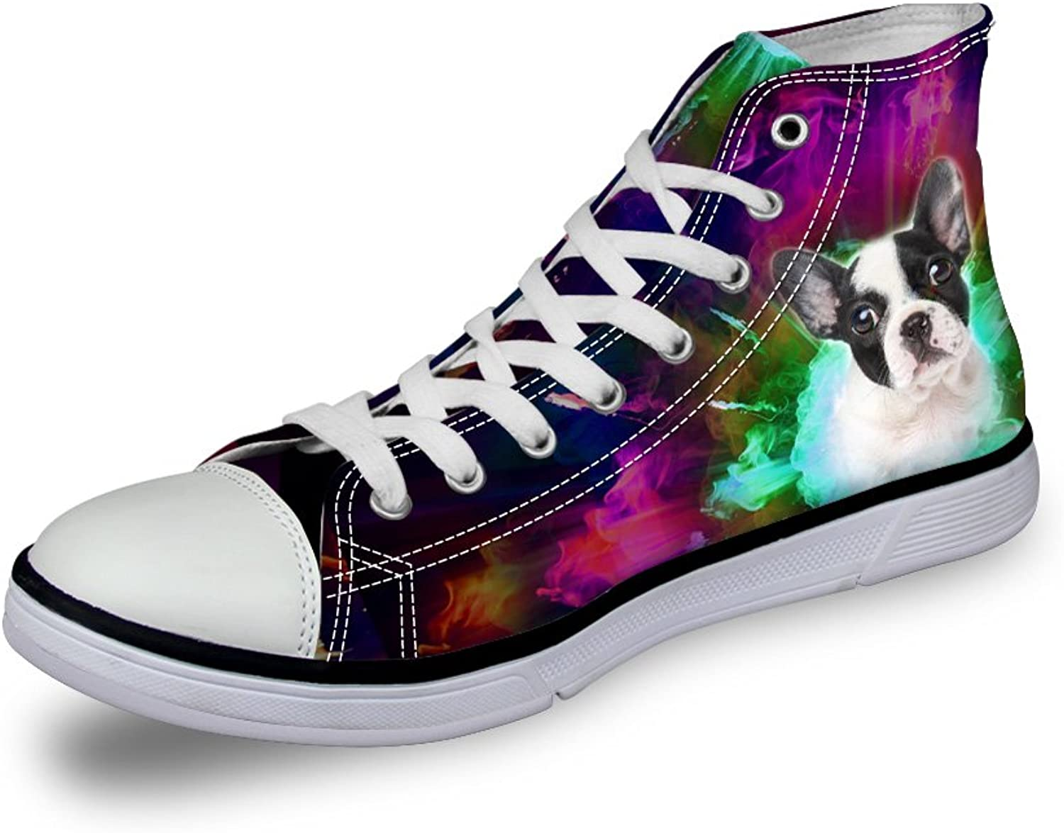 Showudesigns Cool Printing Dog Wolf High Top Canvas shoes Lace-up Walking shoes
